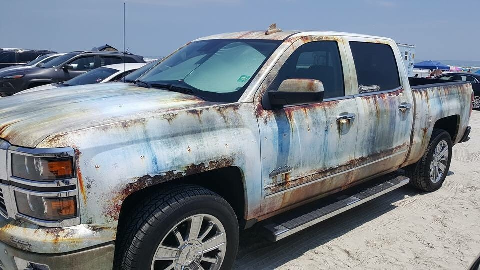 New chevy silverado gets rusty wrap autoevolution
