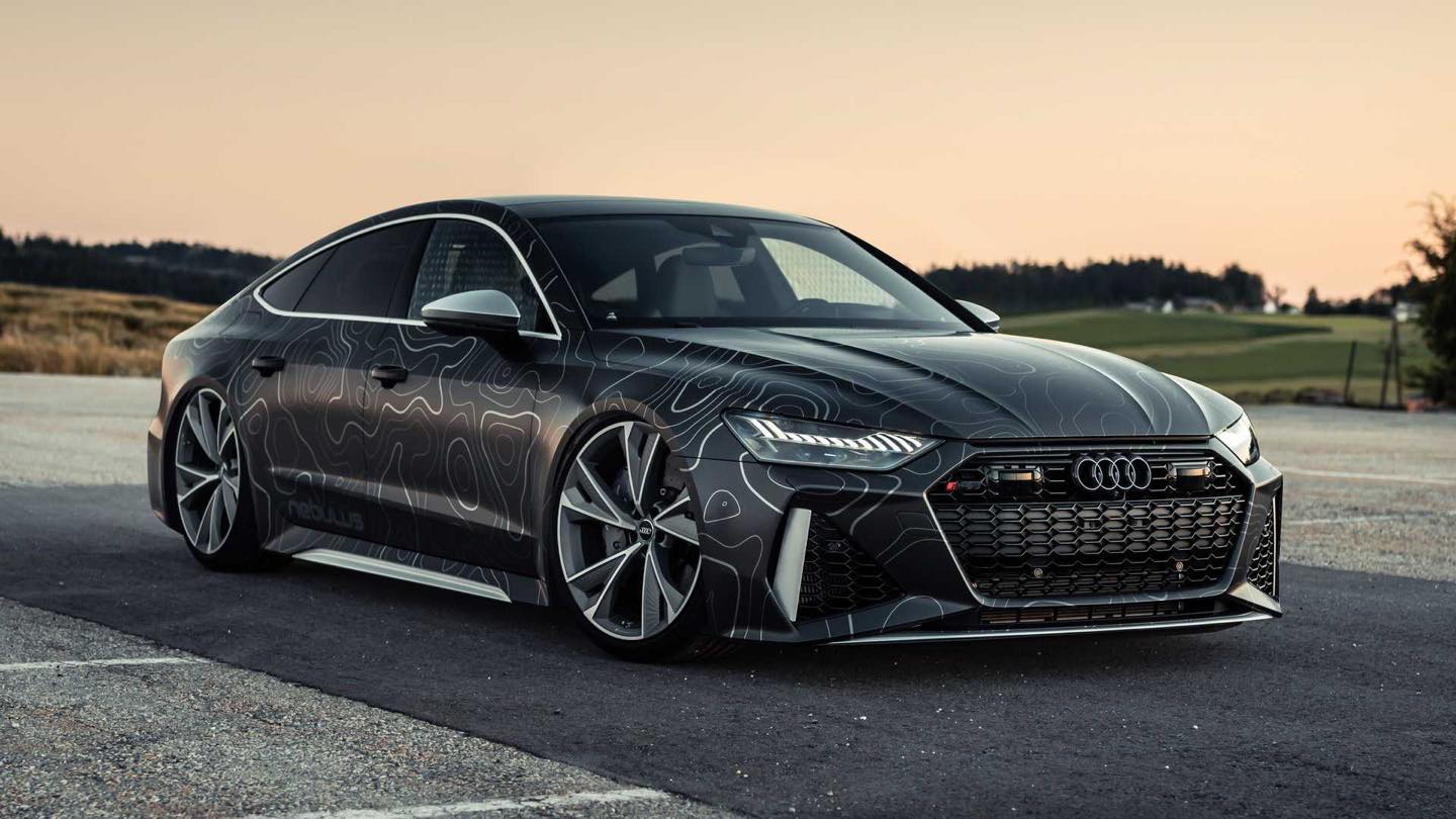 Custom 2020 Audi Rs7 Is Loaded With 962 Hp Its Wrap Looks Like A Map Autoevolution