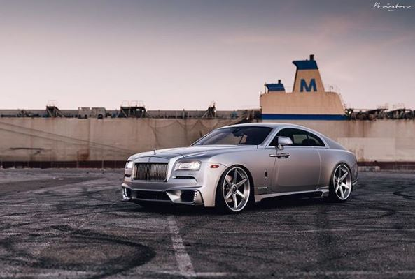 custom-bodied rolls-royce wraith on brixton forged wheels looks the