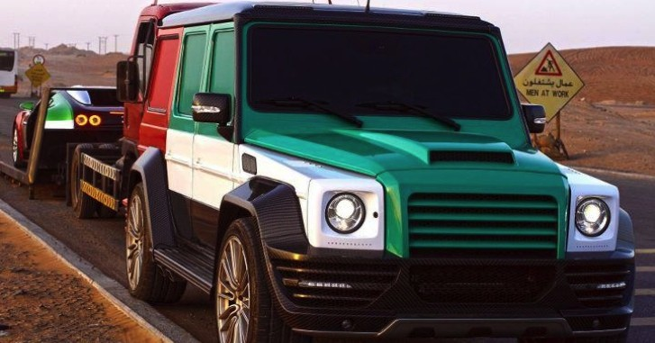 Custom Bugatti Veyron and Mercedes G55 AMG Wear Matching Colors in the UAE