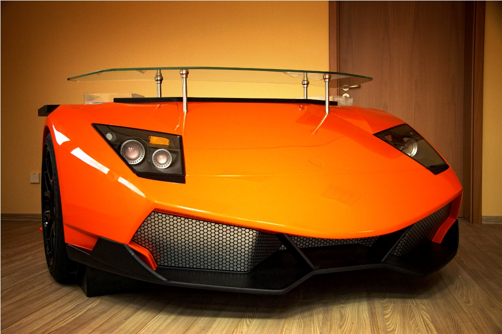 Lamborghini Murcielago Turned Into Custom Desk Complete With Tires