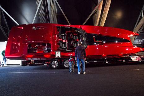 Custom Crystal Red Catamaran Up For Grabs With Matching