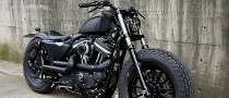 Custom Harley Iron Guerilla Motorcycle by Rough