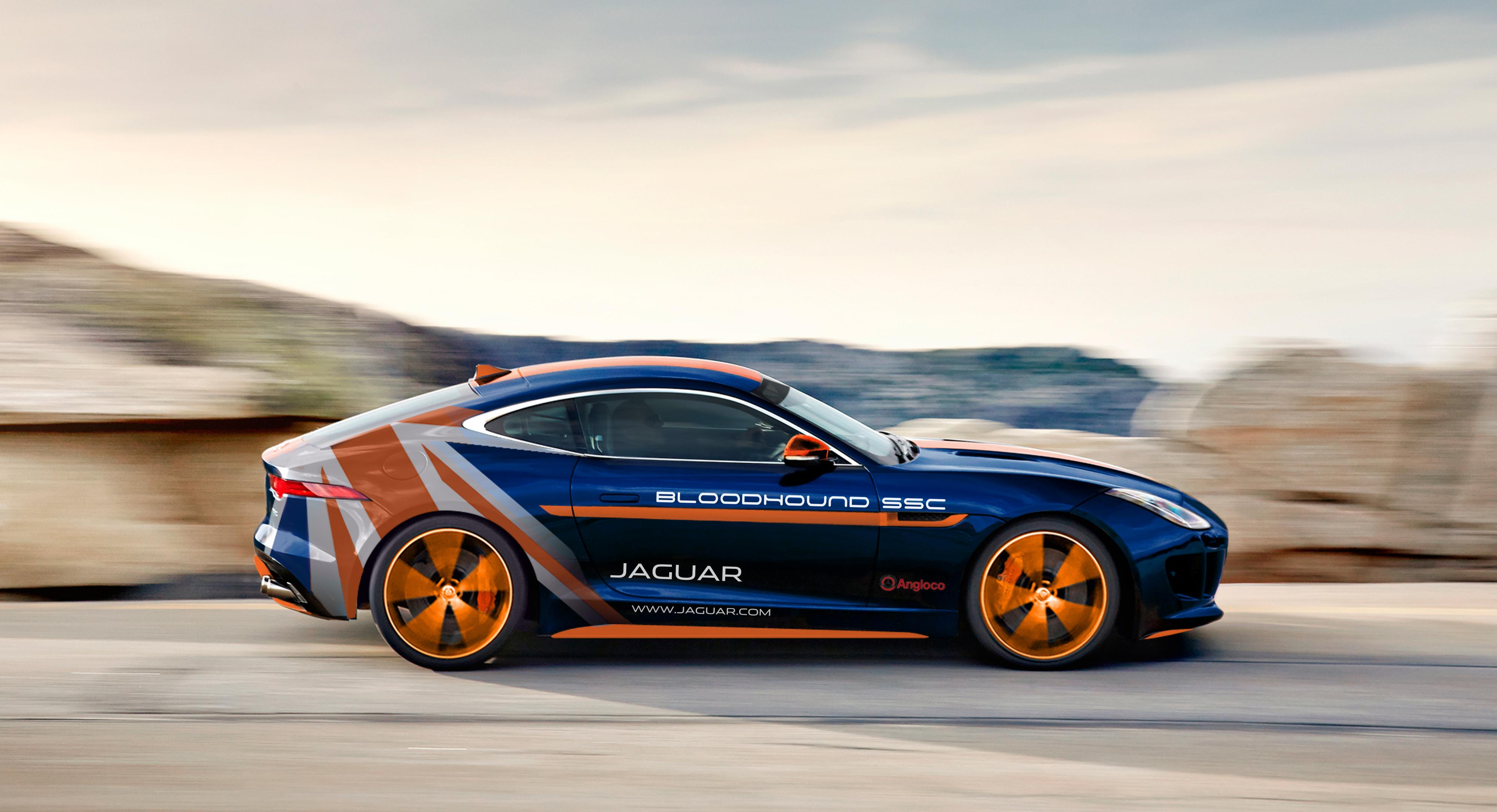 Attempt To Break Land Speed Record Custom Jaguar F Type Will Make Sure Bloodhound