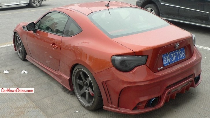 Custom Toyota GT 86s Wearing Vanity Plates in China