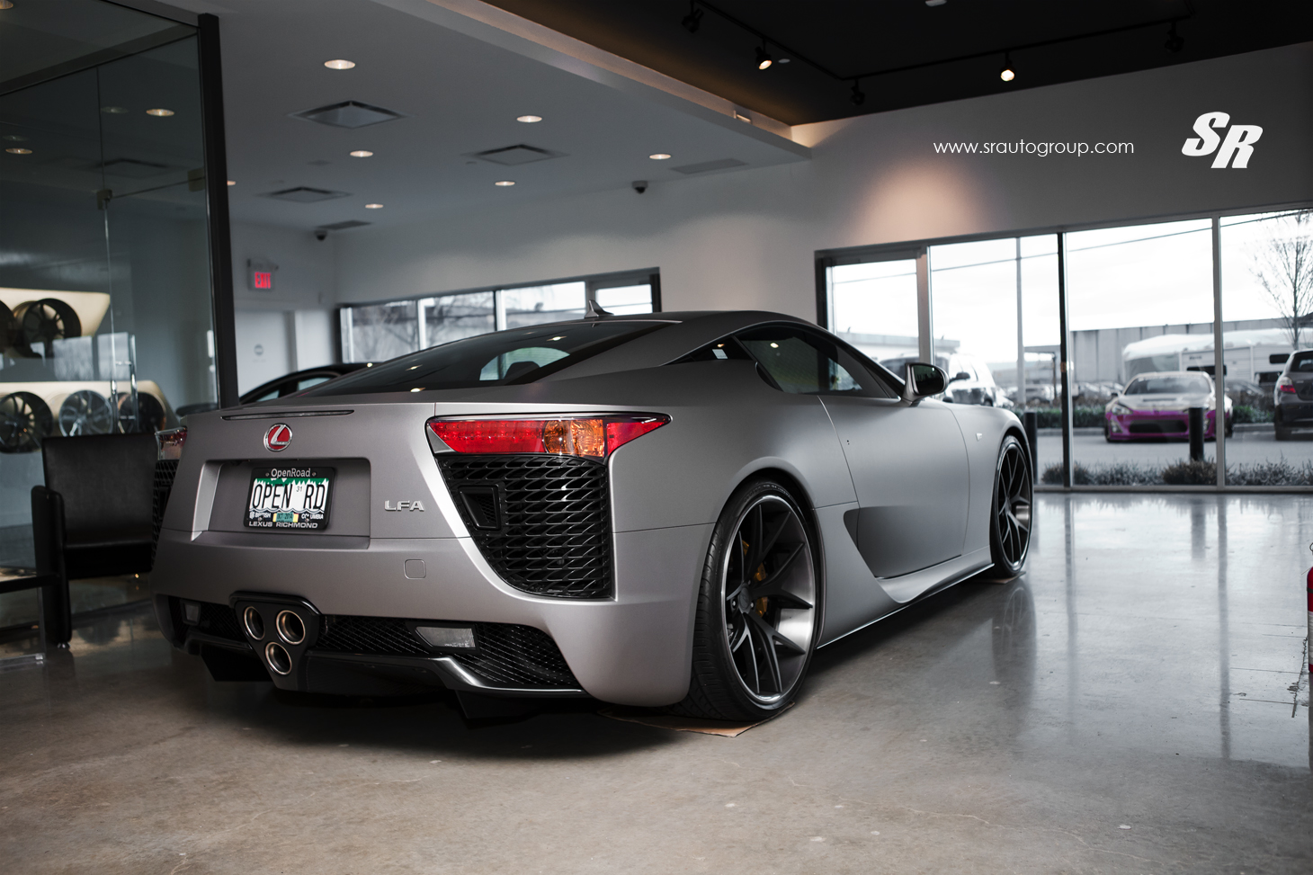 Custom Wrapped Matte Silver Lexus LFA Heading to Vancouver Show