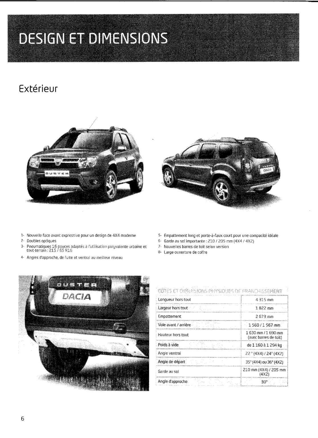 Dacia Duster Leaked Brochure, New Details Released - autoevolution