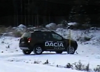 Dacia Duster driven on the snow