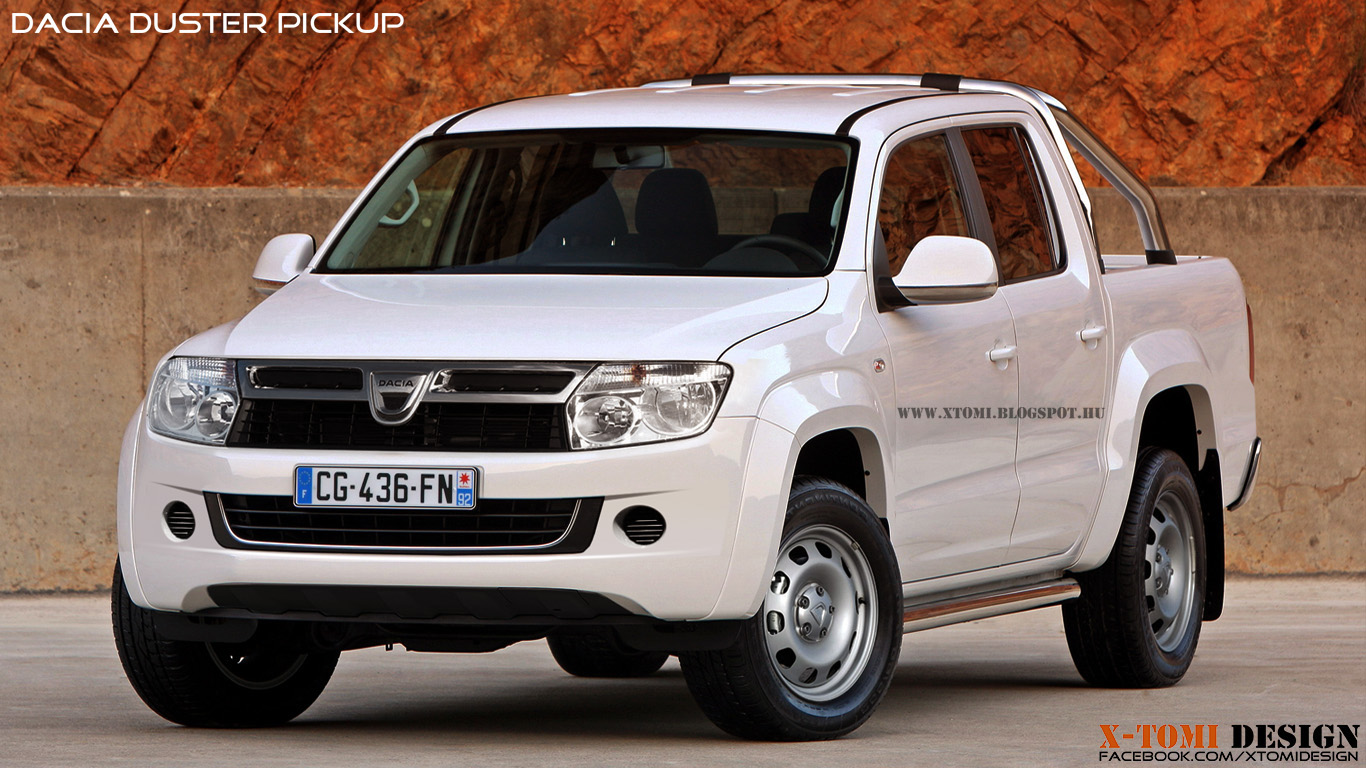 Dacia duster pickup new rendering released autoevolution