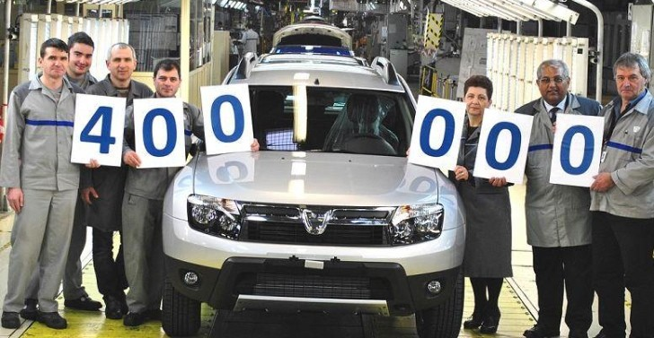Dacia Duster Reaches 400,000 Production Milestone
