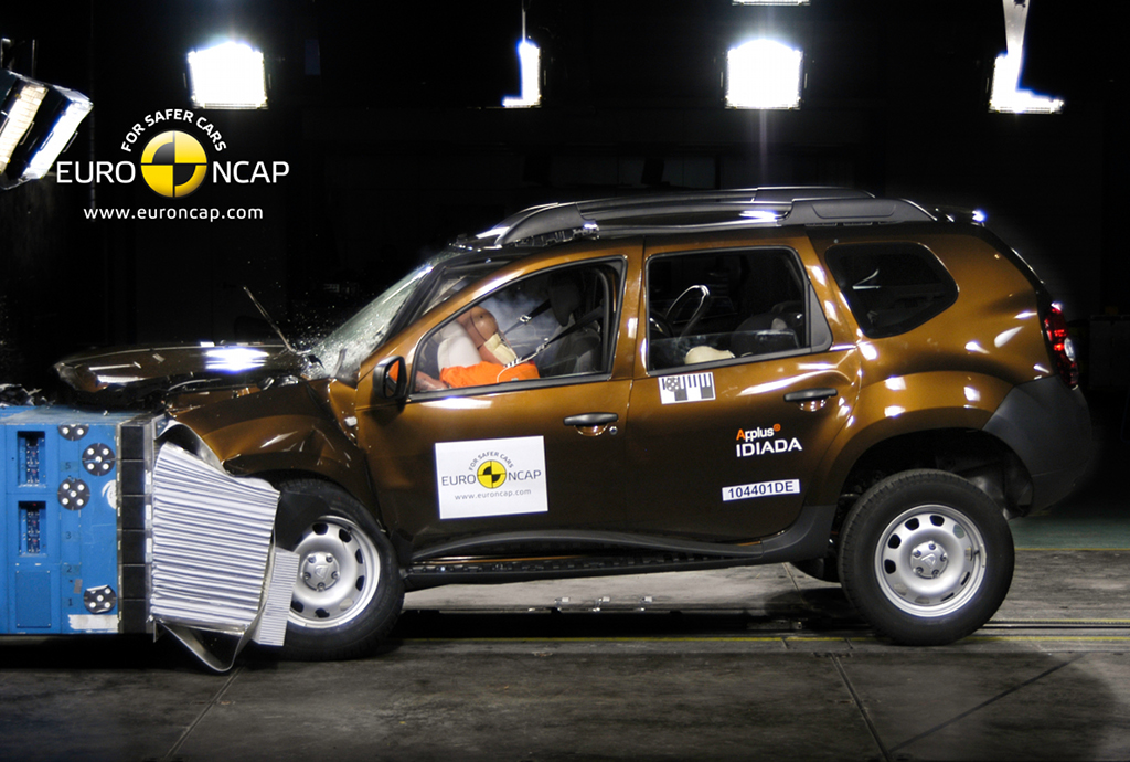 Dacia Duster In The Front Crash Test Conducted By Euro Ncap