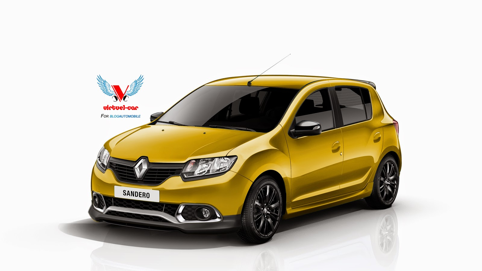 dacia sandero rs wearing renault badges rendered. Black Bedroom Furniture Sets. Home Design Ideas