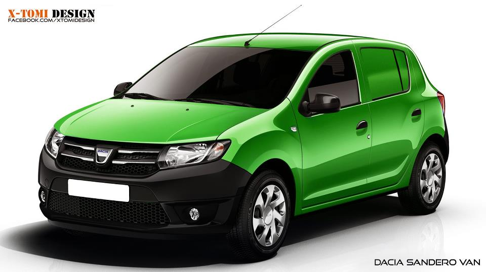 dacia sandero van rendered it should be built autoevolution. Black Bedroom Furniture Sets. Home Design Ideas