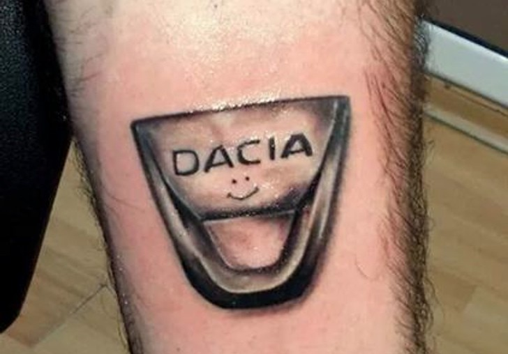 dacia tattoo for ardent employee autoevolution