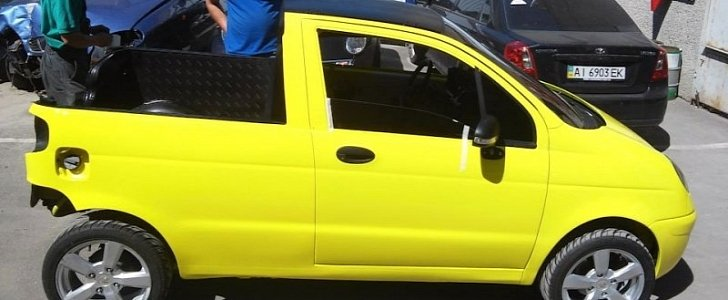 Daewoo Matiz Turned into Mini Pickup by Creative Russians - autoevolution