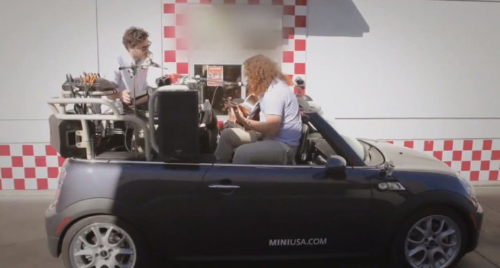 Dale Earnhardt Jr. Jr. Band Is Not Normal Inside a MINI [Video]