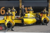 Renault F1's entire lineup, including reserve drivers Jerome D'Ambrosio and Ho-Pin Tung