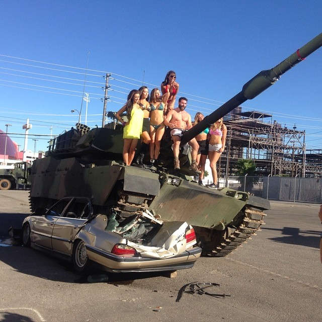 Image result for dan bilzerian tank