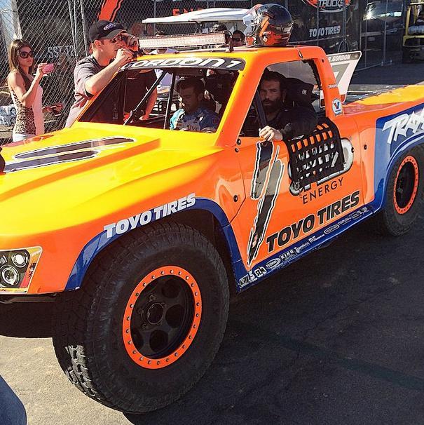 Dan Bilzerian Races A Stadium Truck No Bikini Girls This