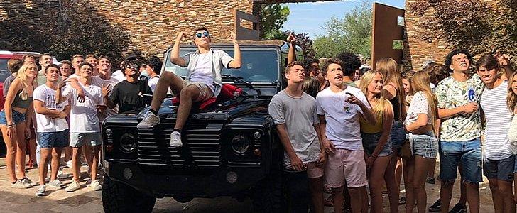 Las Vegas Car Accident >> Dana White Gets Son Aidan a Land Rover Defender V8 on 16th Birthday - autoevolution