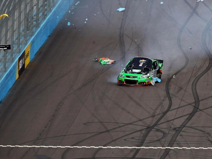 Danica Patrick Slams Into Wall at Phoenix [Video]