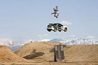 Ken Block car-bike jump