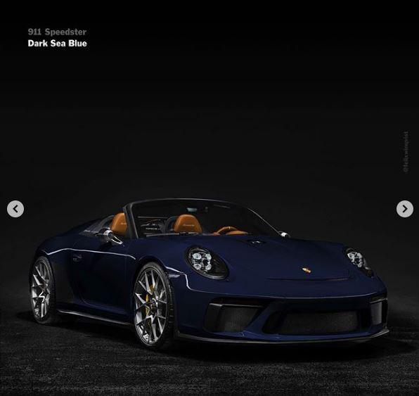Dark Sea Blue 2019 Porsche 911 Speedster Rendered, Looks