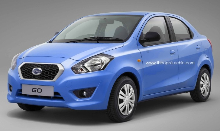 Datsun GO Rendered as Sedan