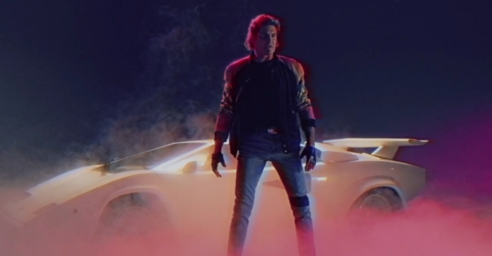 David Hasselhoff Has A Lamborghini Countach Hero Car In New 80s