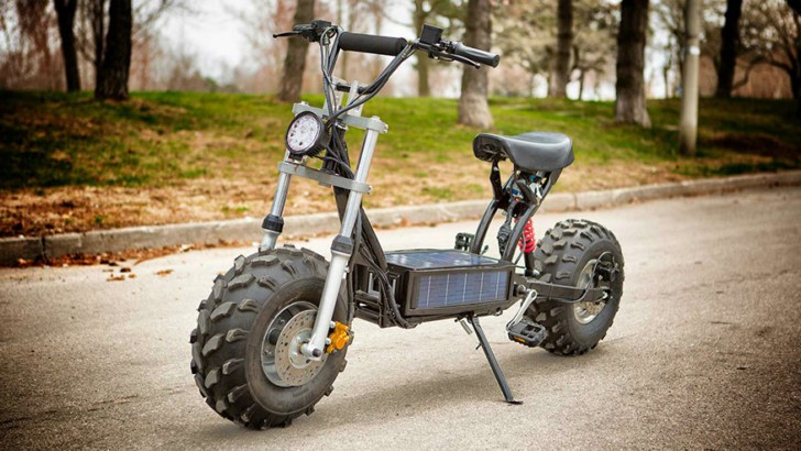 daymak beast the solar powered off road scooter. Black Bedroom Furniture Sets. Home Design Ideas