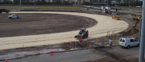Daytona Dirt Track Construction in Progress
