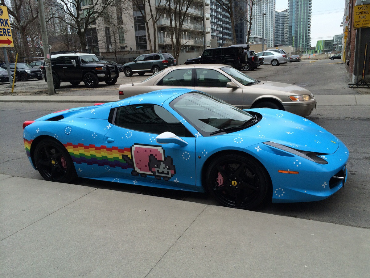 deadmau5 sells his purrari after winning the 2014 gumball. Black Bedroom Furniture Sets. Home Design Ideas