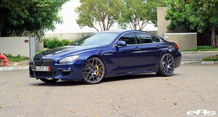 "Deep Sea Blue BMW 6 Series Gran Coupe Rides on 22"" Wheels [Photo Gallery]"