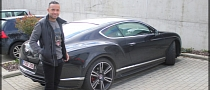 Demy de Zeeuw Poses Next to Bentley Continental GT V8 [Photo Gallery]