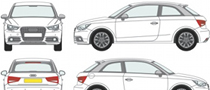 Design an Audi A1 for the Gumball Rally