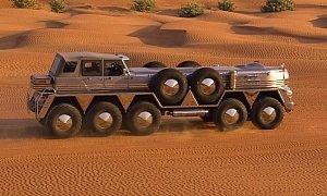 Dhabiyan Is an Insane 10-Wheel Desert Ship Based on a Military Vehicle