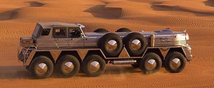 Dhabiyan Is an Insane 10-Wheel Desert Ship Based on a Military Vehicle