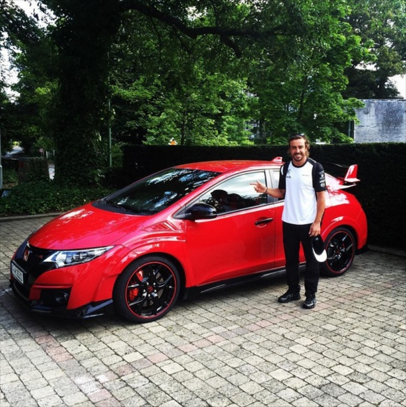 fernando alonso has got a honda civic type r 10th gen civic forum. Black Bedroom Furniture Sets. Home Design Ideas