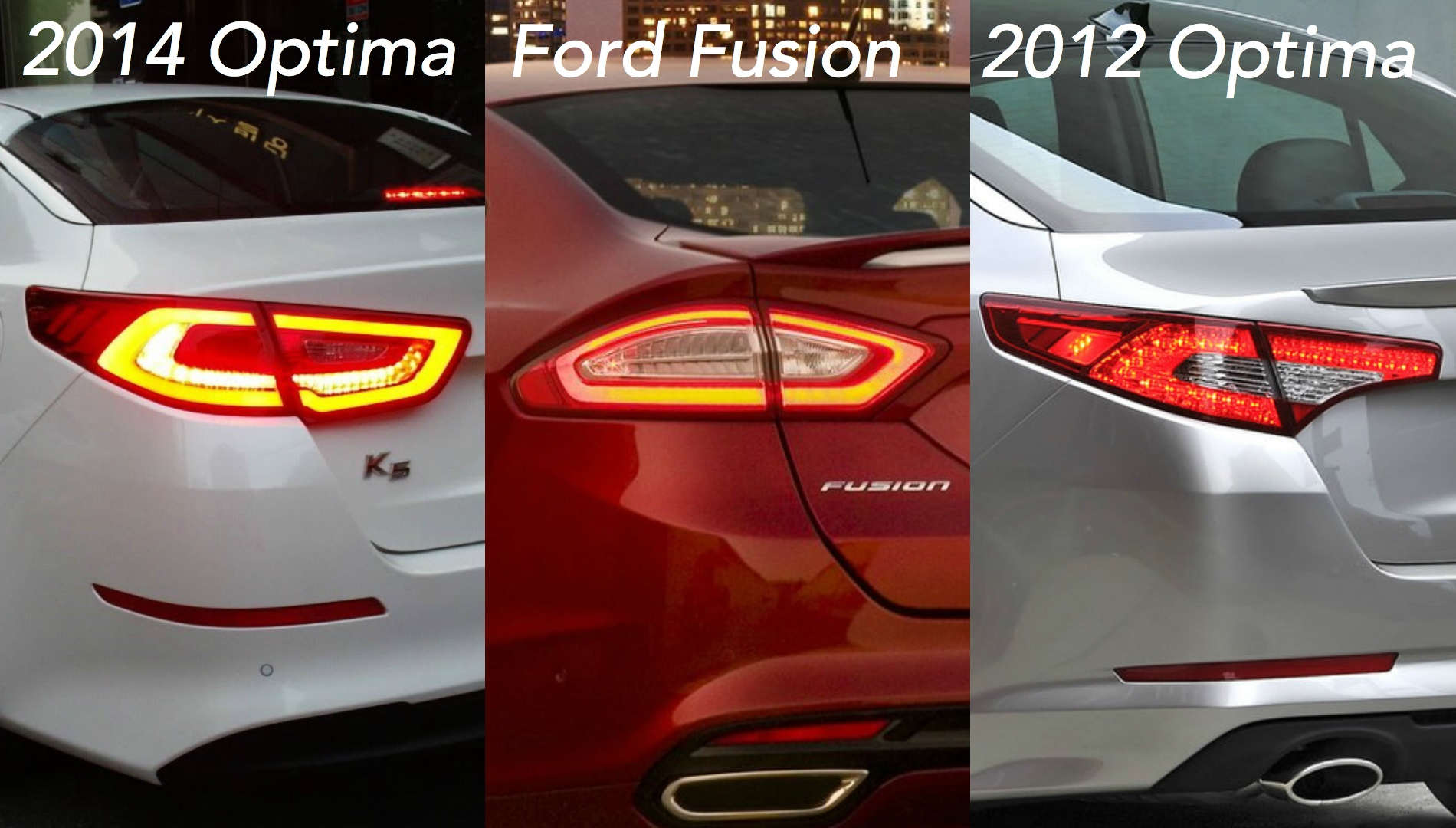 Ford Fusion 2013 >> Did Kia Copy the Ford Fusion's Taillight Design on the 2014 Optima? - autoevolution