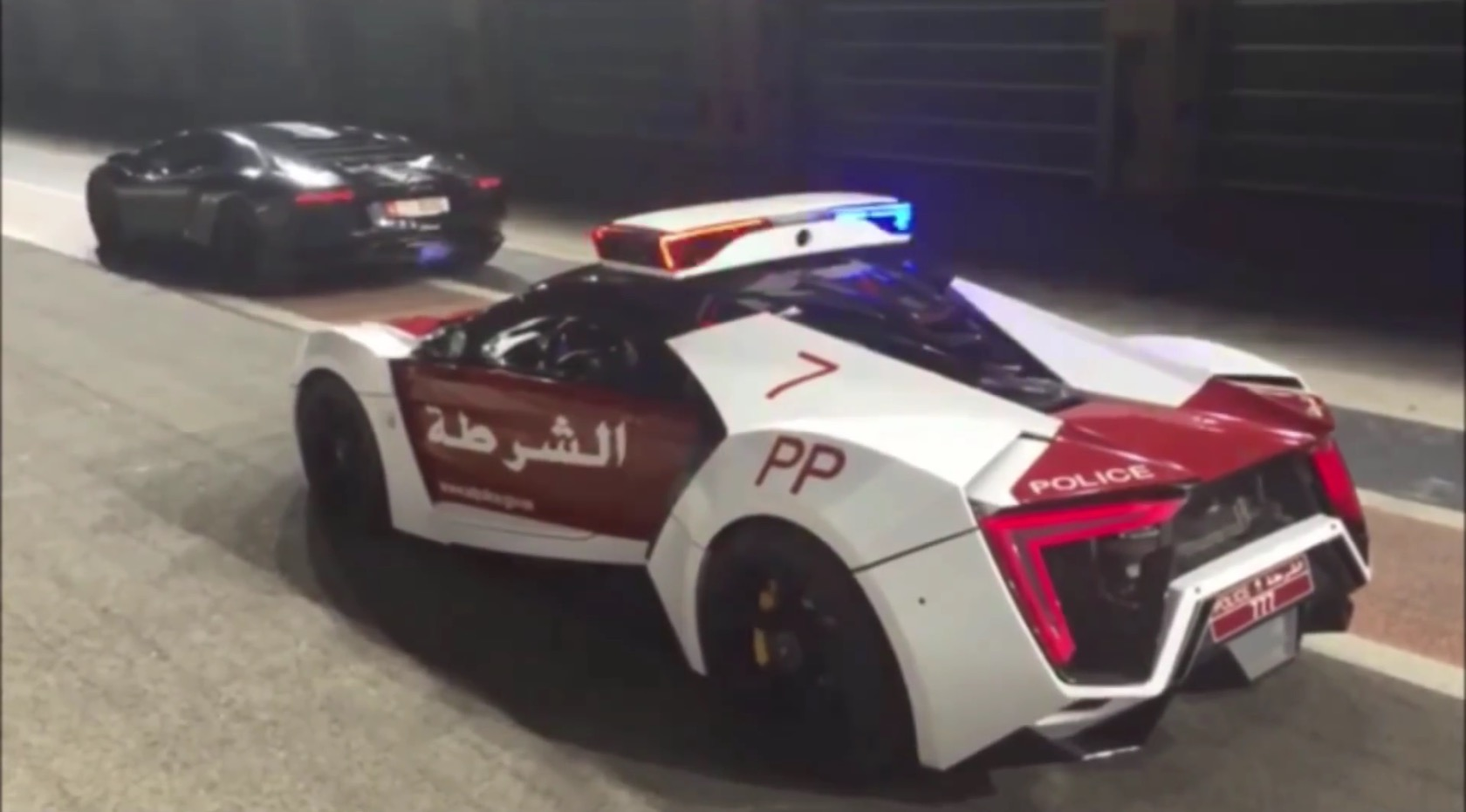 Did This Lykan Hypersport Police Car Pull Over A Flame Throwing