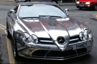 Diouf's chrome Mercedes