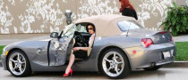 Dita Von Teese Is Teasing in a BMW Z4