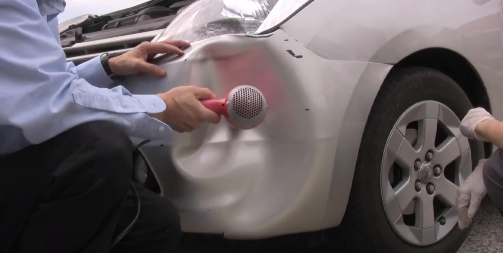 prius bumper repair  DIY: Toyota Prius Bumper Dent Fix with a Hair Dryer - autoevolution