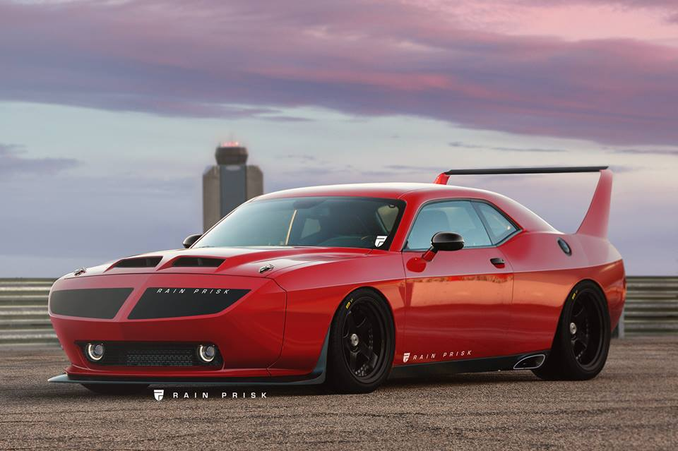 Dodge Challenger Daytona Rendered as Modern-Day Banked Oval Tribute ...