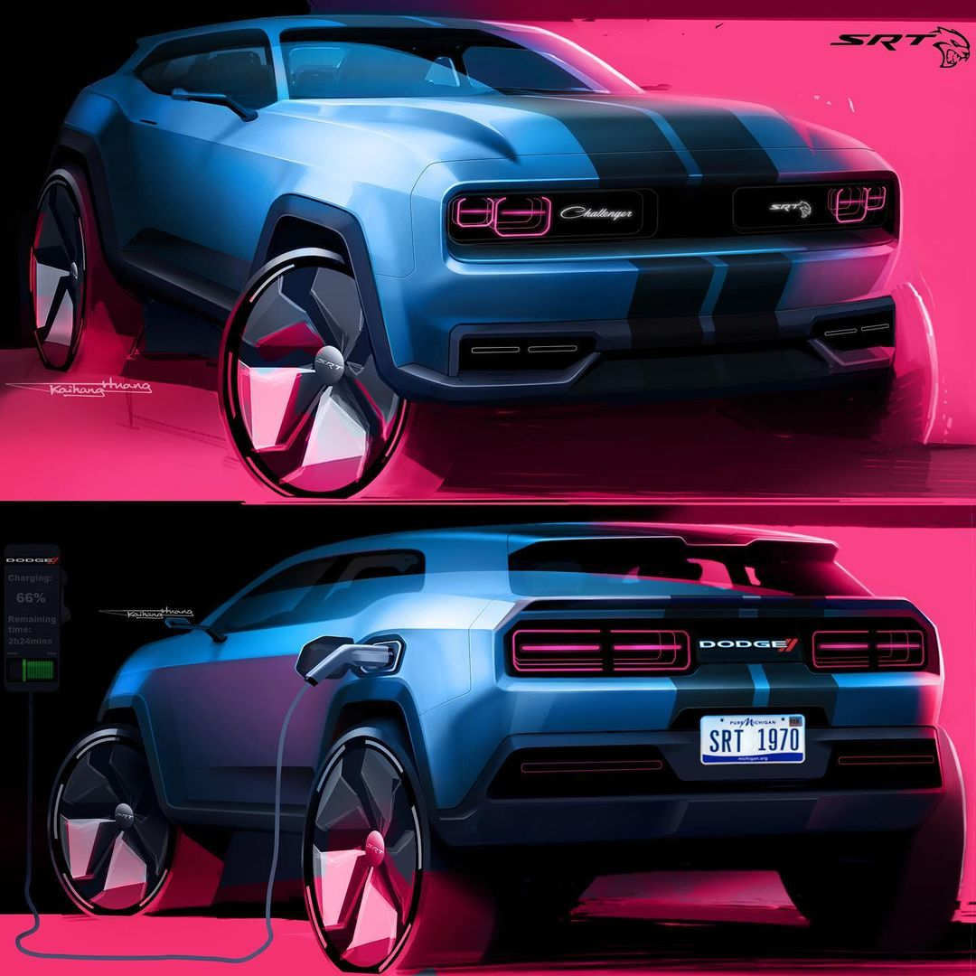 dodge electric car 2020 Dodge Challenger Electric SUV Looks Like a Mustang Mach-E Killer