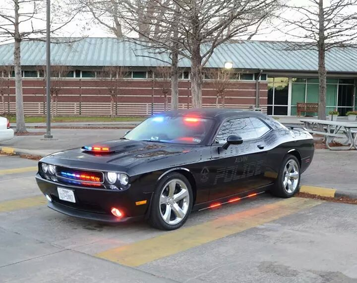 Dodge challenger police car looks menacing in alvin texas