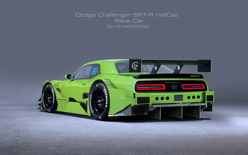 Charger Vs Challenger >> Dodge Challenger SRT-R Hellcat Racecar Rendering Is a Supercharged Offender - autoevolution