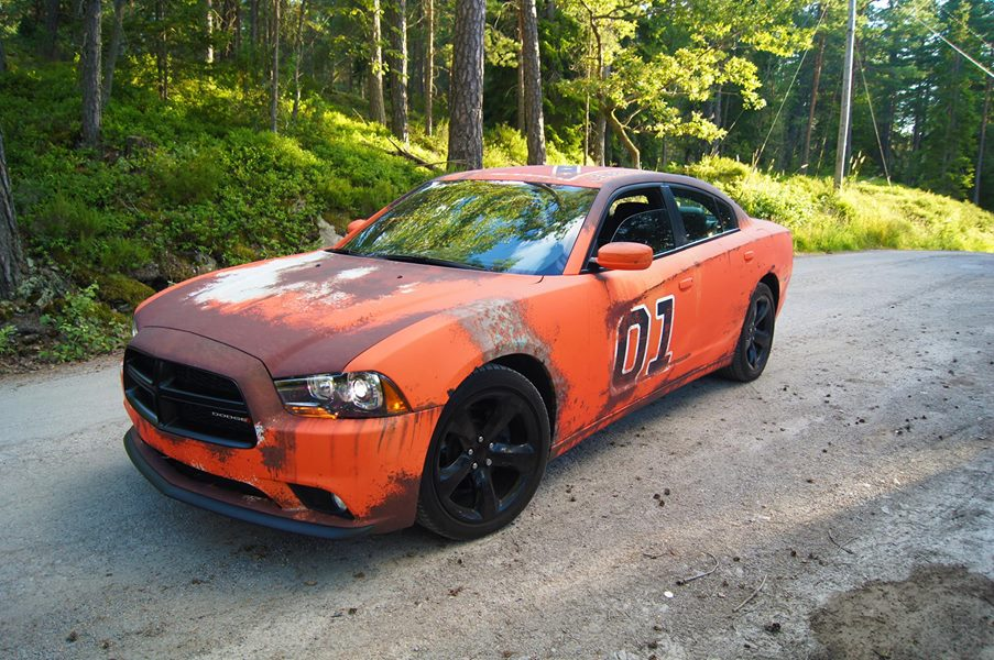Dodge charger gets rusted general lee wrap in sweden autoevolution