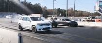 """Dodge Charger """"R/T Surprise"""" Drag Races Jeep Grand Cherokee Trackhawk, USA Wins"""