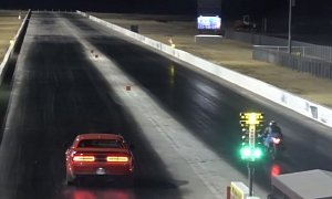Dodge Demon Drag Races Kawasaki Ninja, Gets Instant Discipline